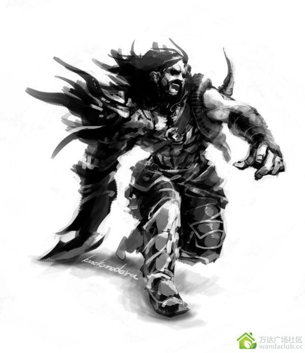 黑白插画英雄联盟_【瓦洛兰艺术节】日常坑队黑白手绘休闲音乐